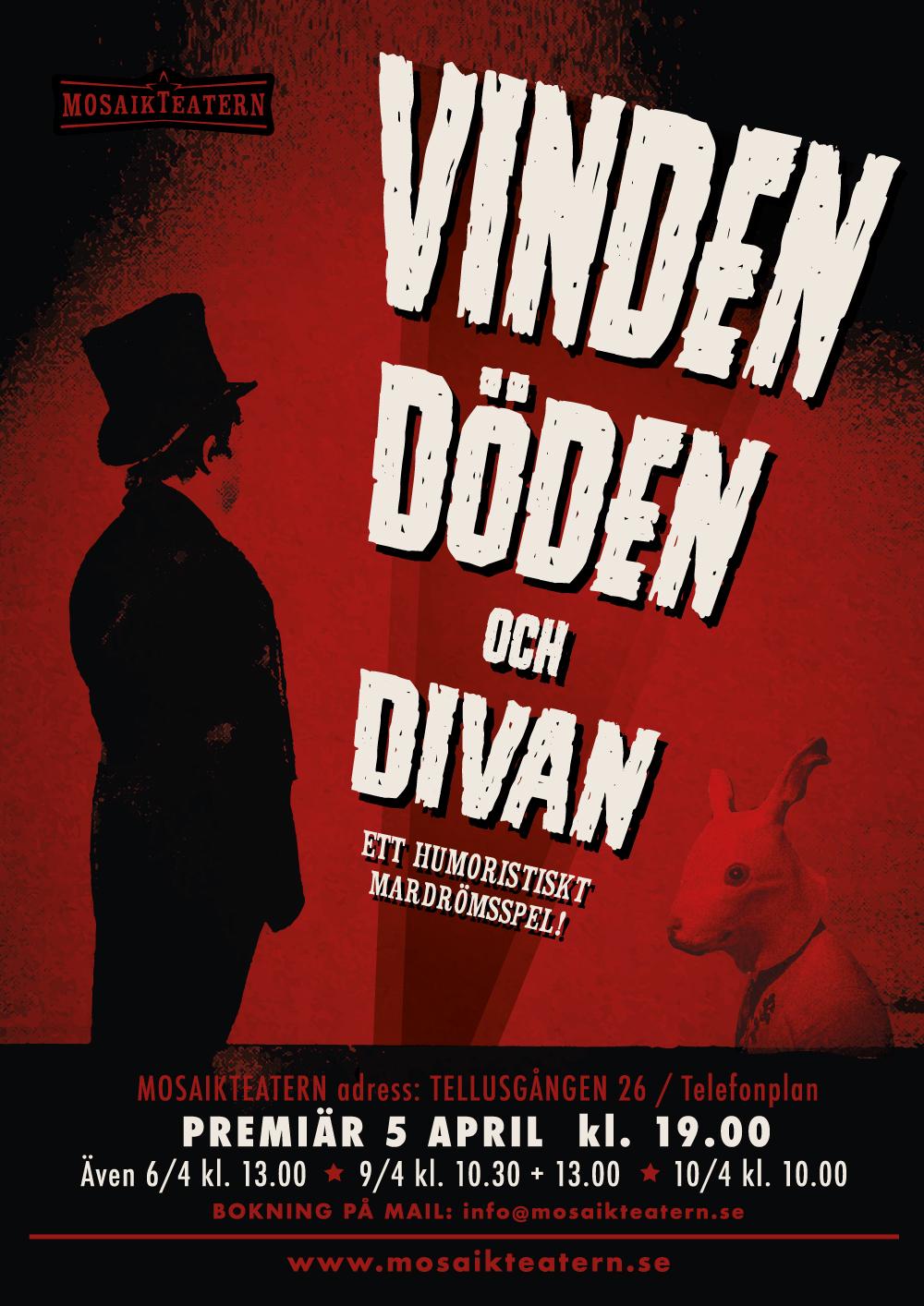 Vinden Döden och Divan PREMIÄR 5 april 19.00