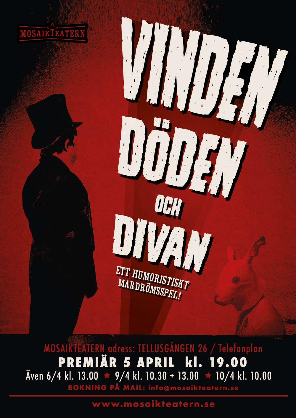 Vinden Döden och Divan - Ett humoristiskt mardrömsspel Premiär 5 april 2018!