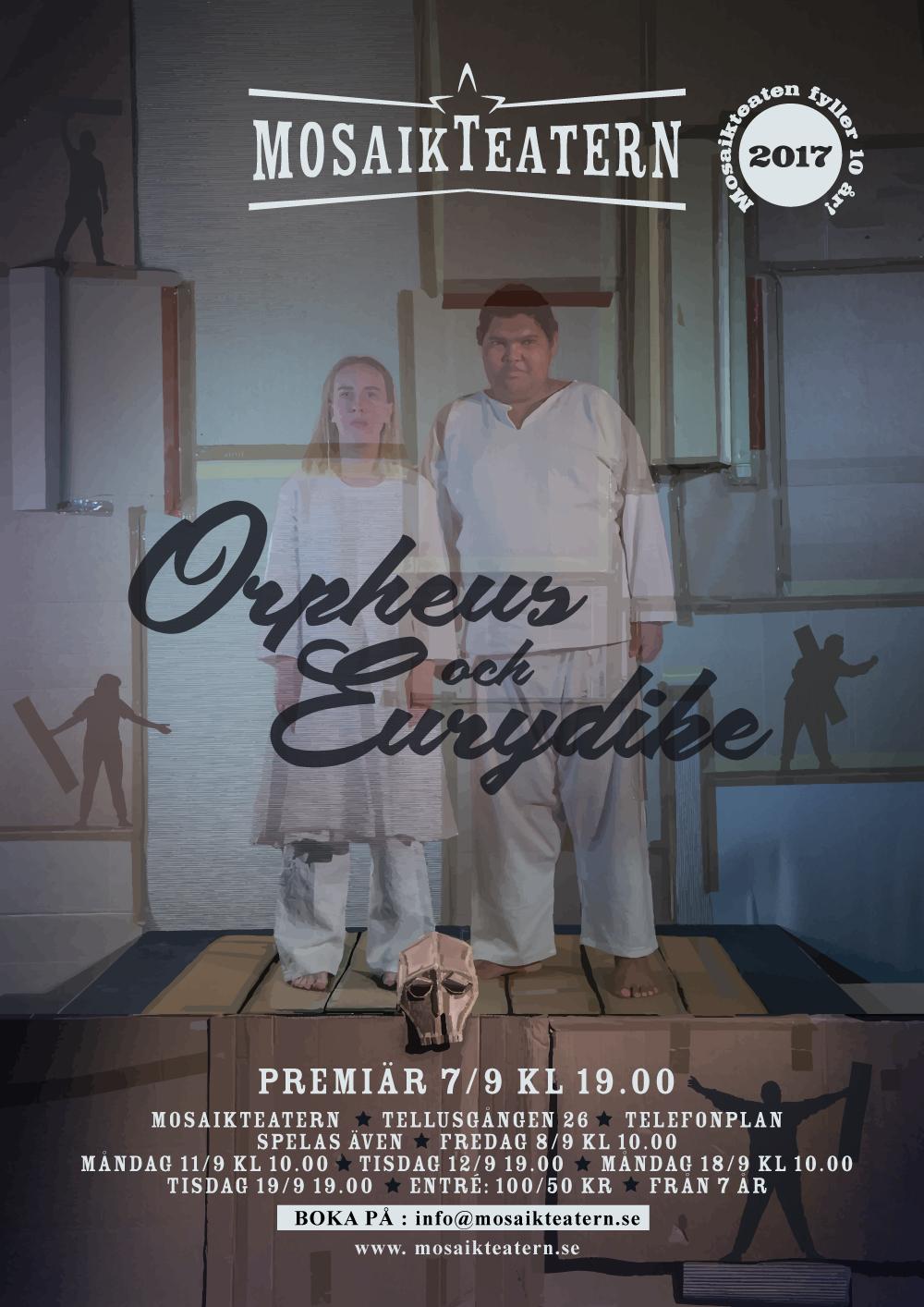 Orpheus & Eurydike är ett sorglustigt spektakel om Döden och Kärleken.